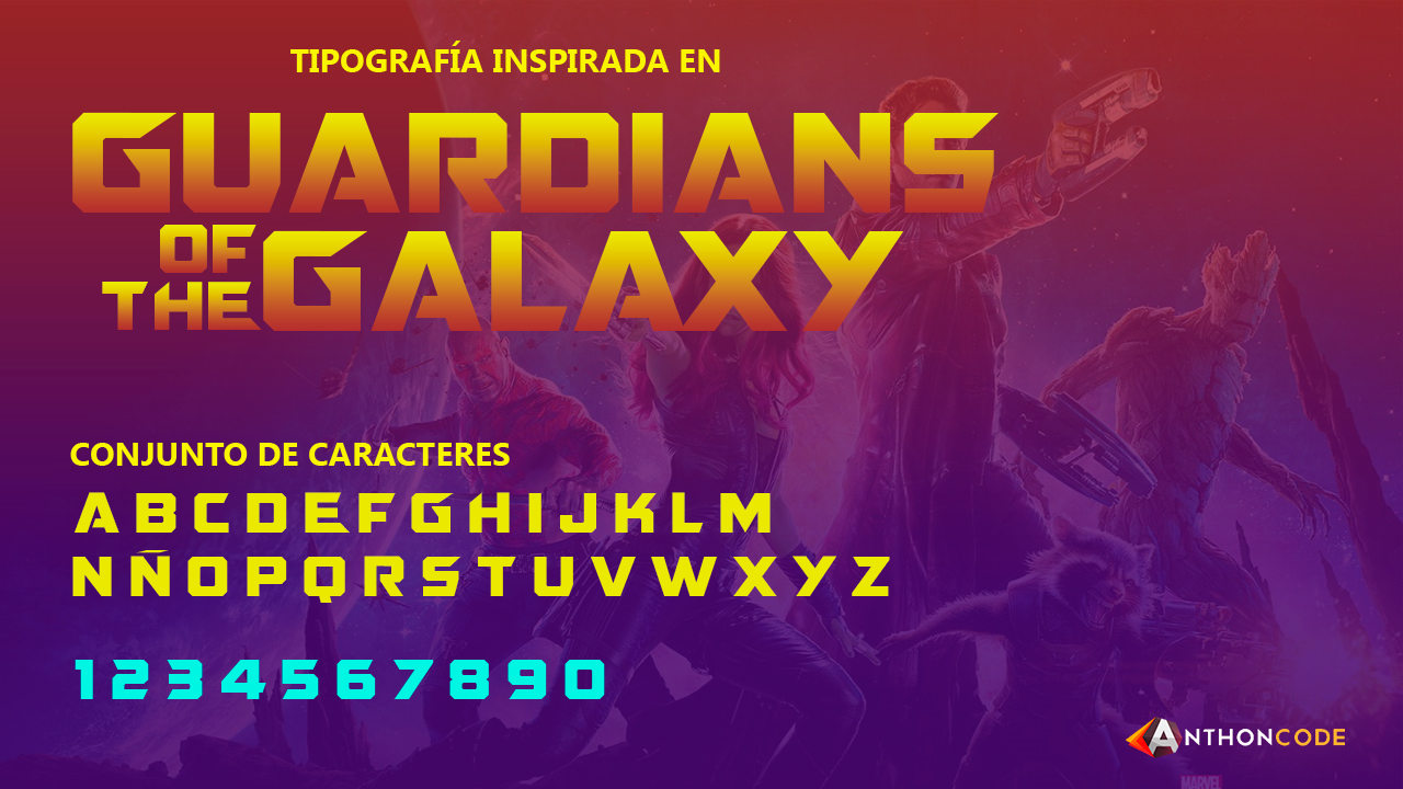 Font Guardians of the Galaxy – MARVEL Font