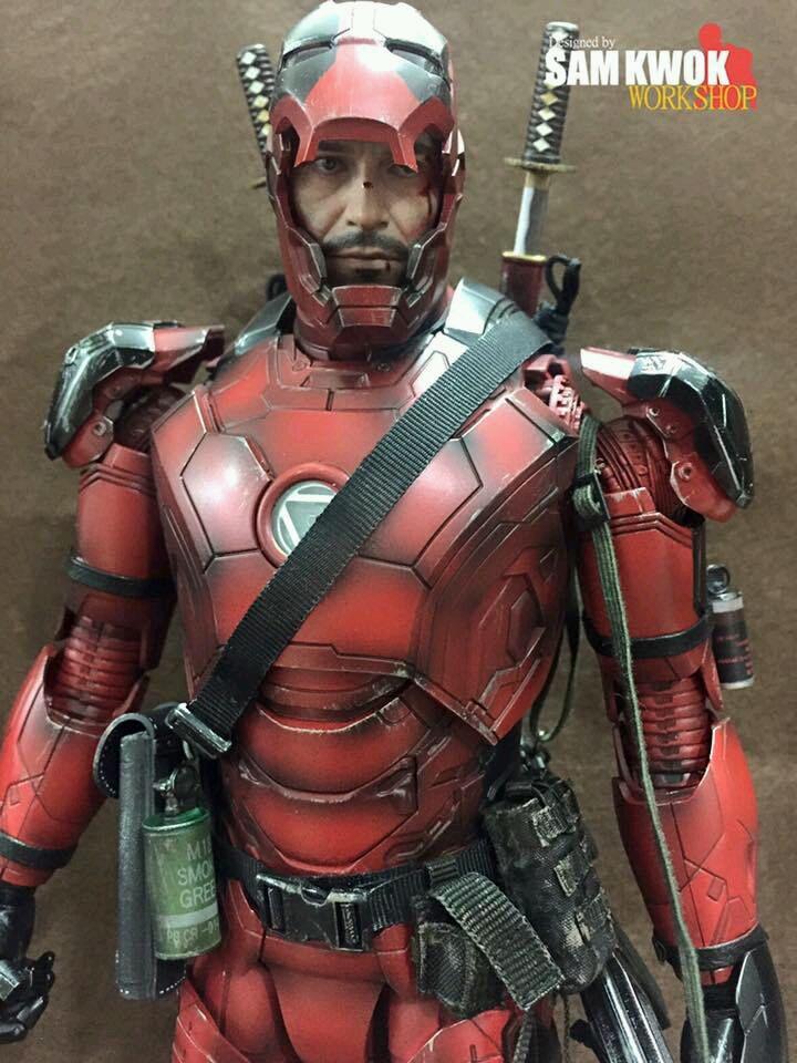 Superhéroes de MARVEL con la armadura de Iron Man