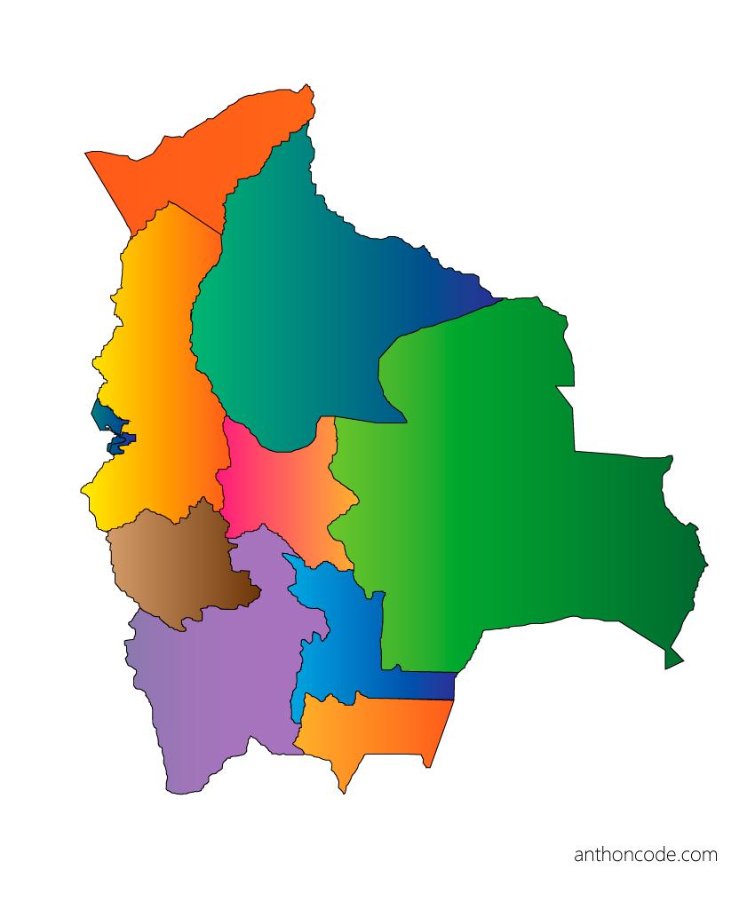 Mapa de Bolivia - Mapa político de Bolivia