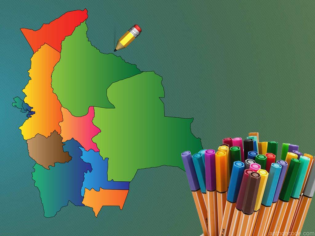 Banderas de los nueve departamentos de Bolivia para colorear + PDF 🏳 ❤
