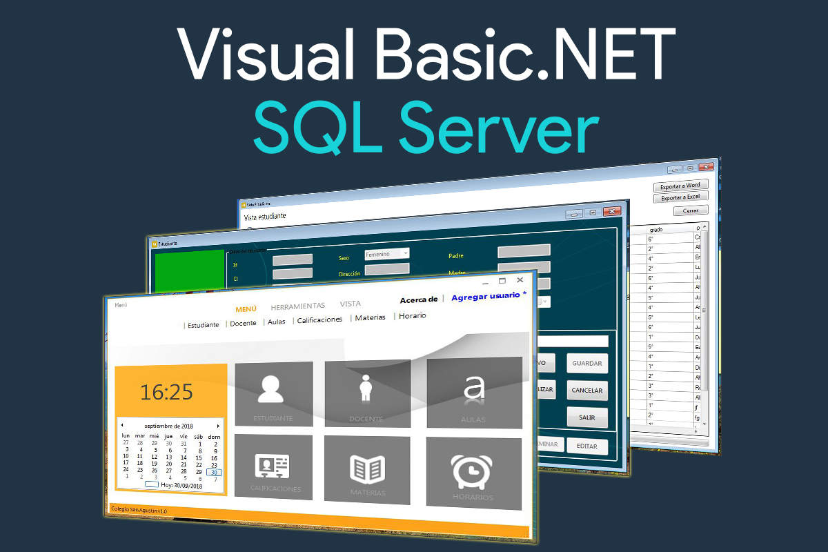 Sistema escolar desarrollado en Visual Basic.NET y SQL Server