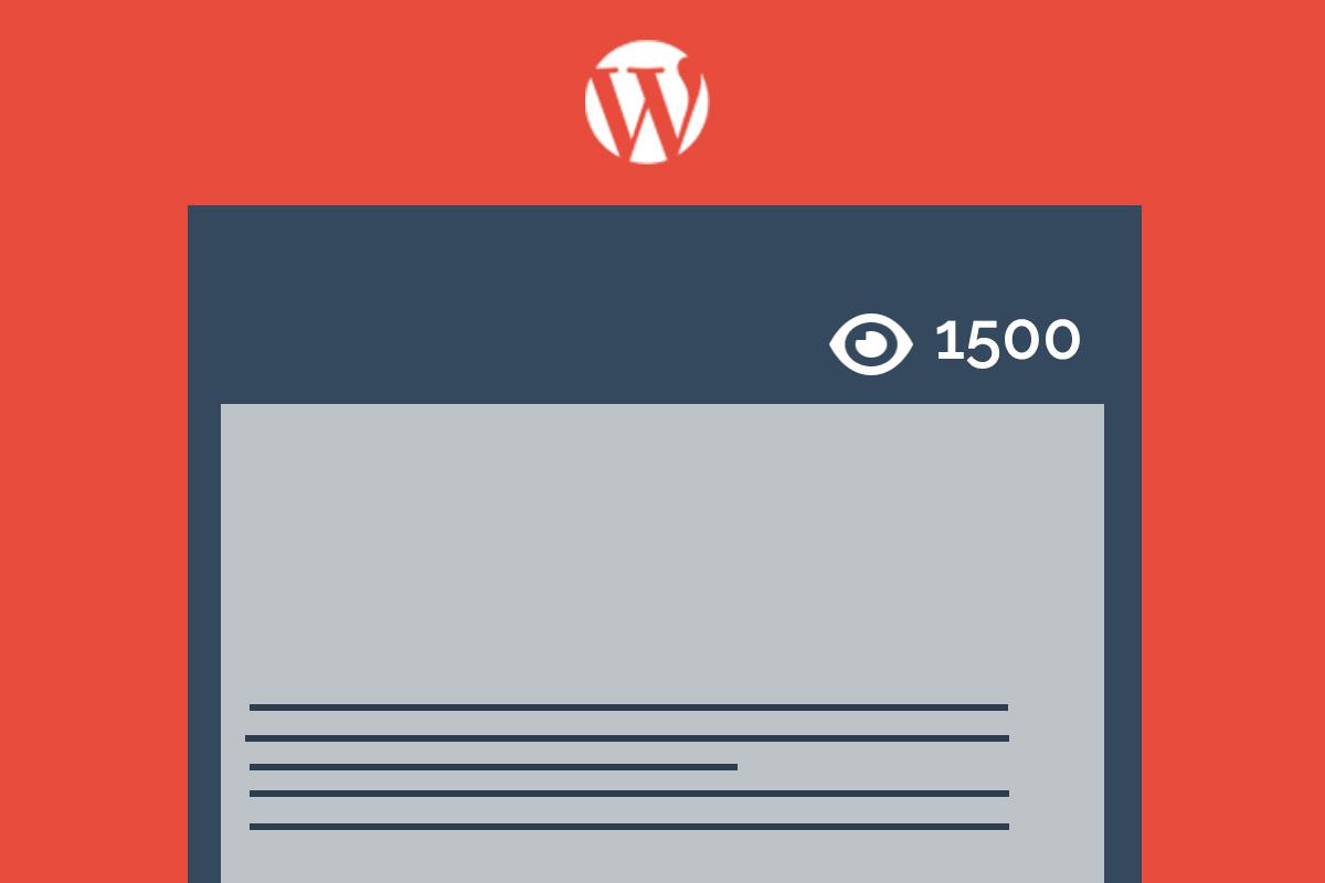 Cómo agregar un contador de visitas en entradas de WordPress