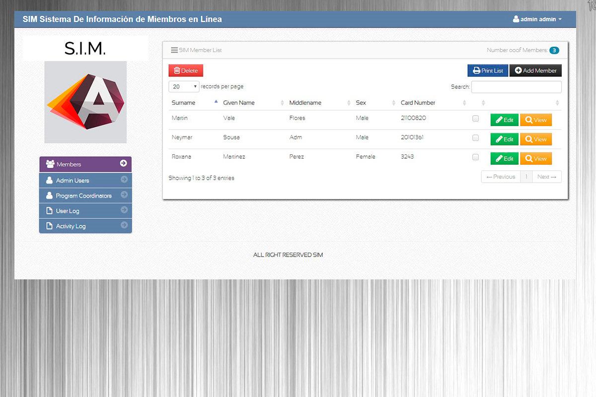Código fuente Sistema De Información de Miembros en Línea en PHP