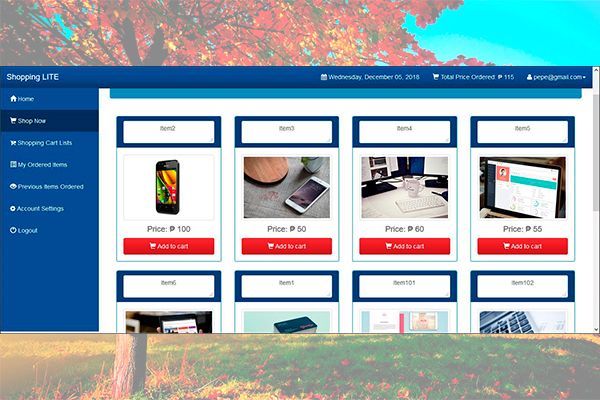 Código fuente de una tienda on-line o e-commerce en PHP