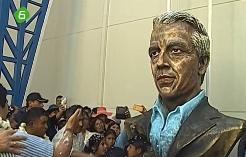 estatua de Álvaro García Linera