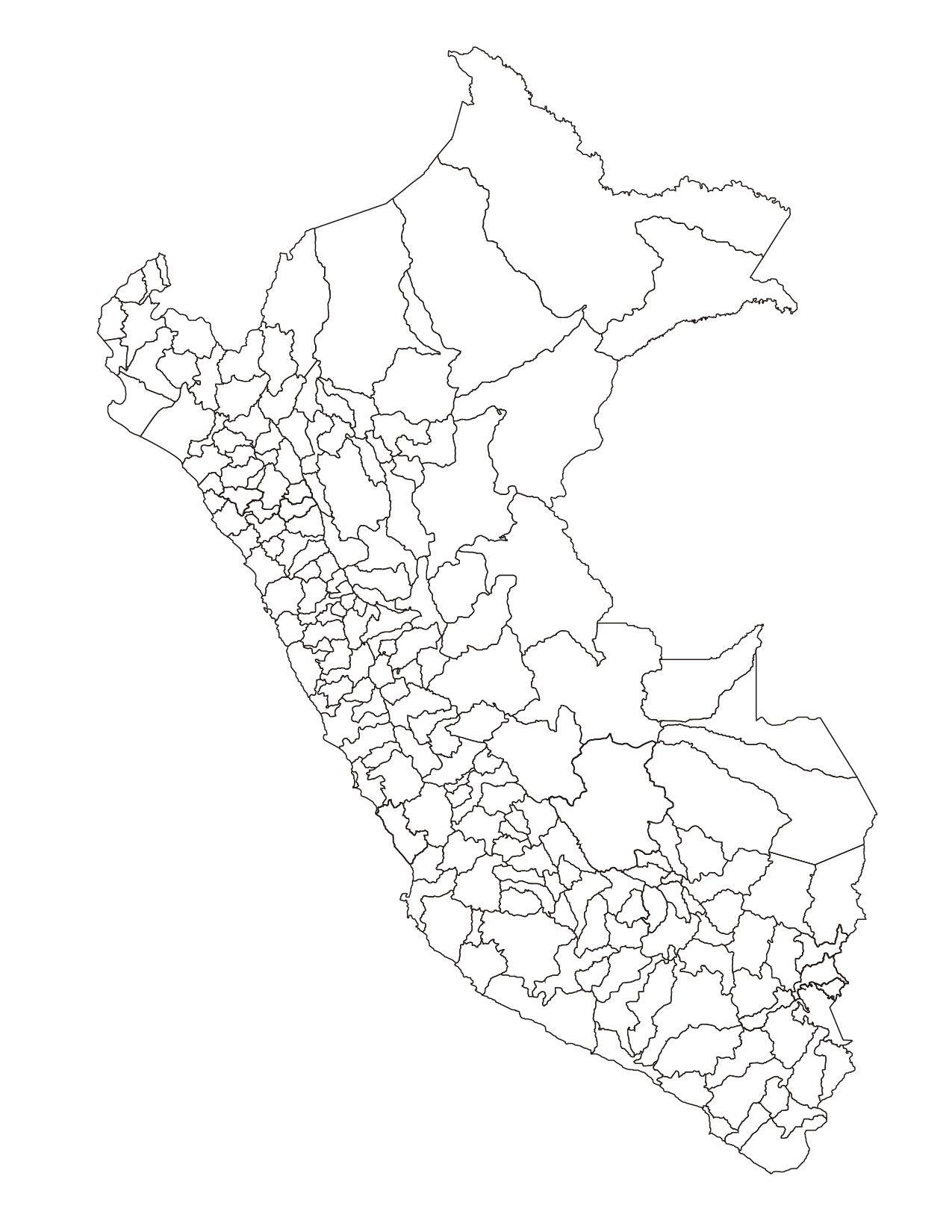Mapa Del Peru Para Colorear E Imprimir Y Los Departamentos Del Peru