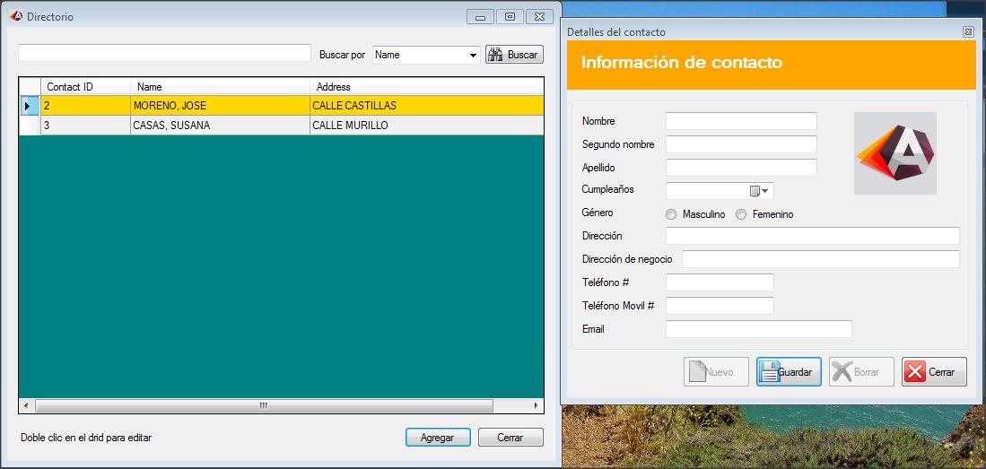directorio telefónico desarrollado en Visual Basic