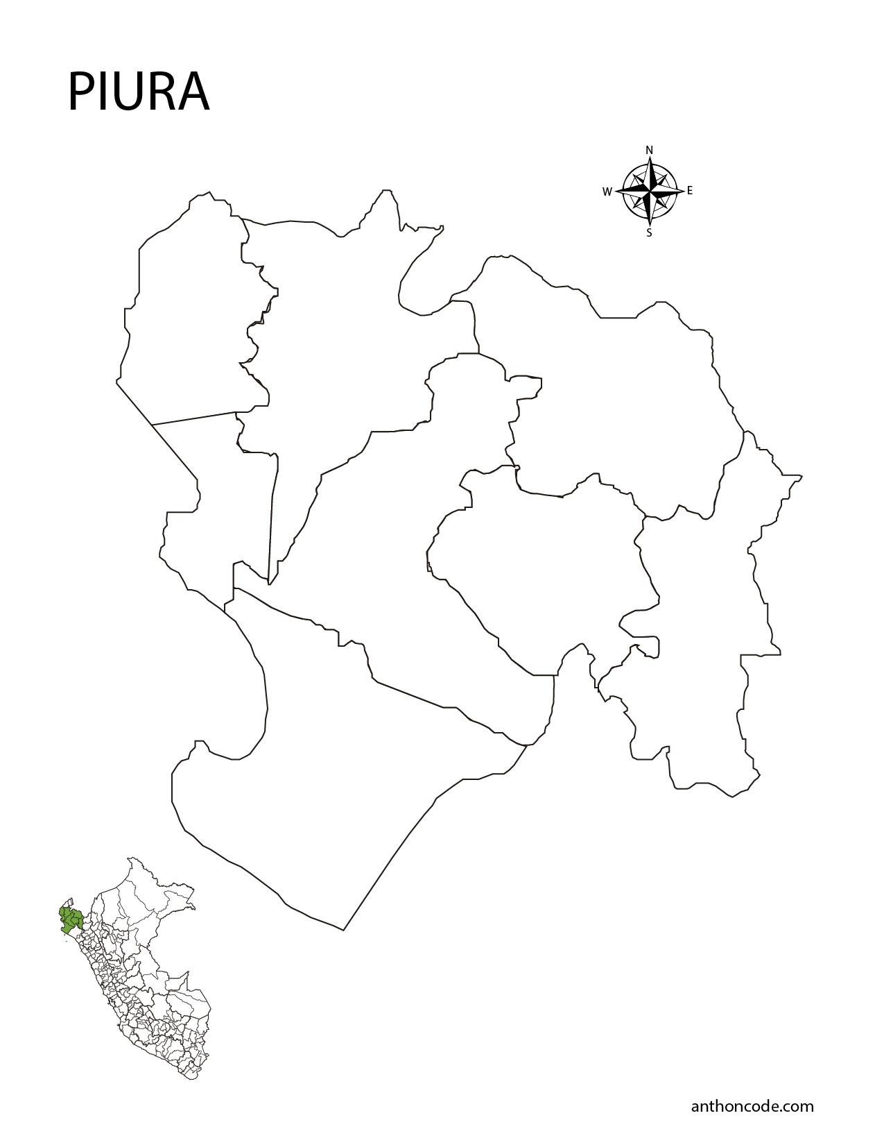 Mapa Del Peru Y Departamentos Para Colorear E Imprimir