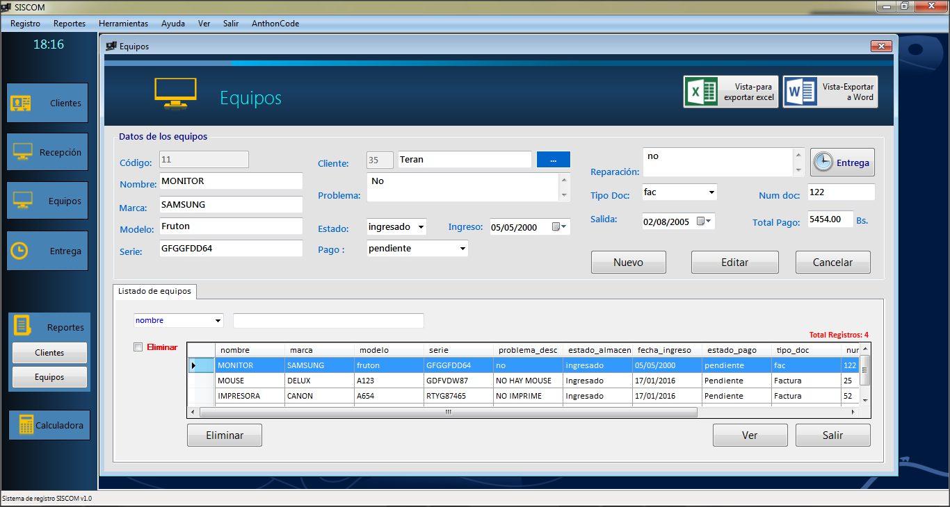 Código Fuente Sistema desarrollado en Visual Basic Net y SQL Server