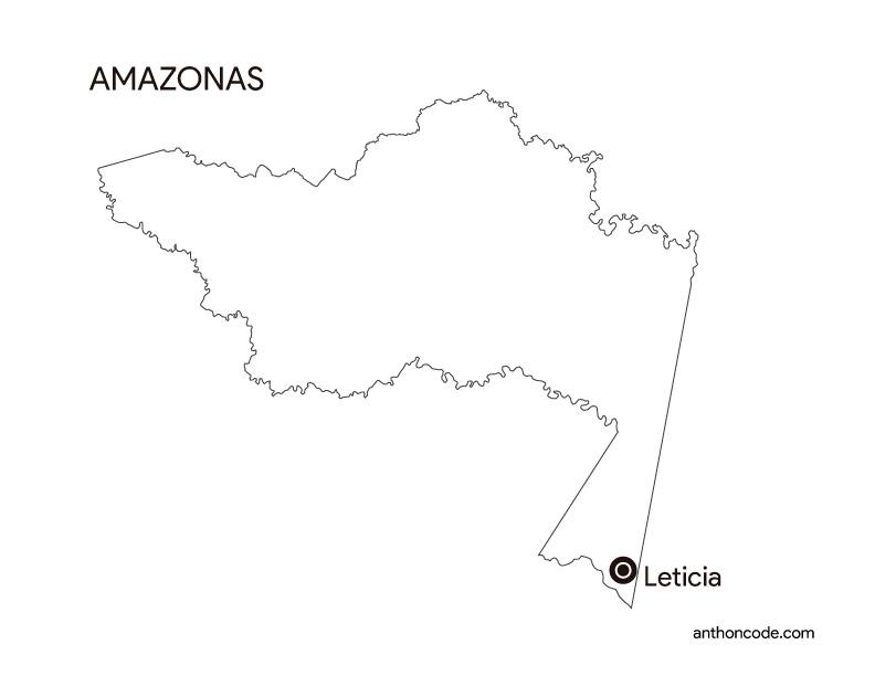 mapa de Amazonas Colombia