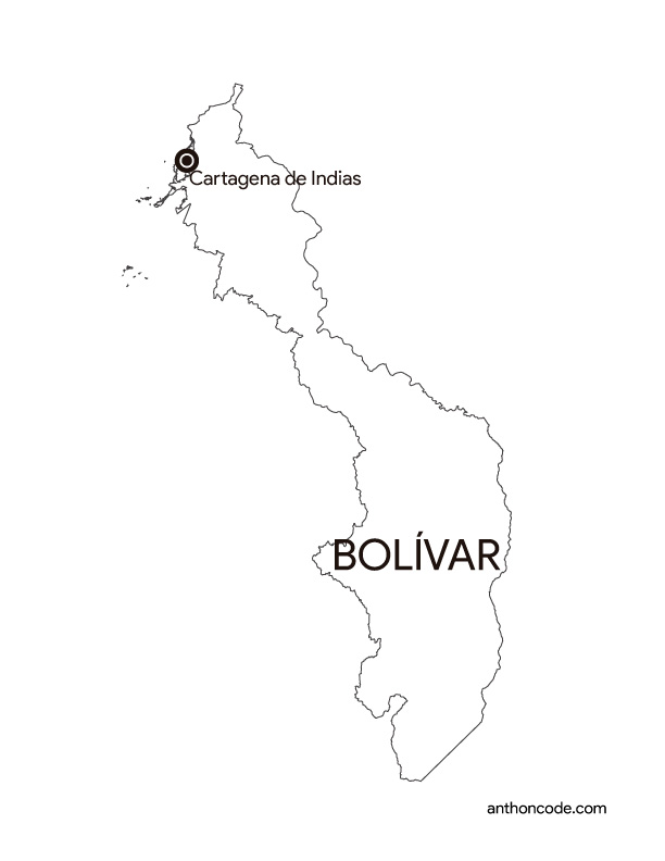 Bolívar Colombia para colorear