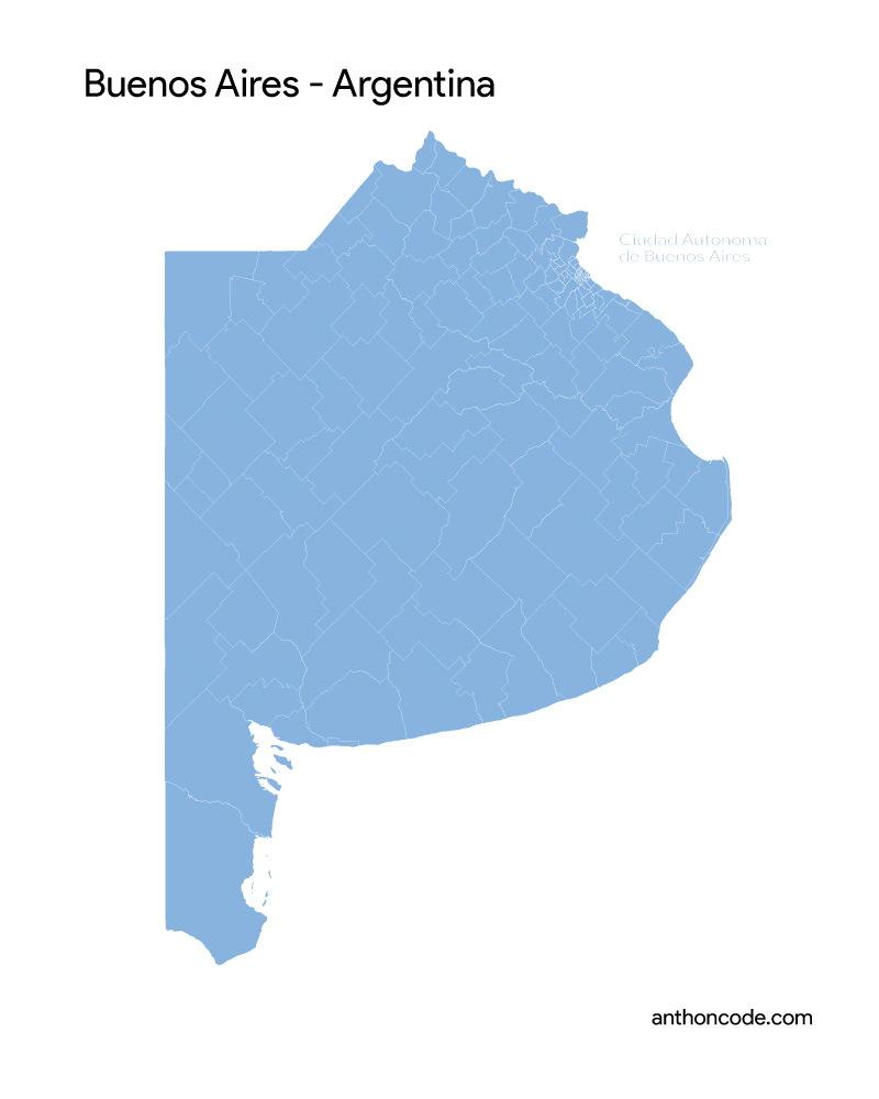 mapa BUENOS-AIRES para pintar