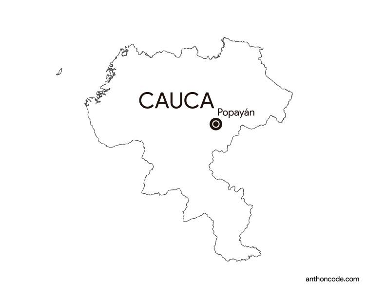 Cauca Colombia para colorear
