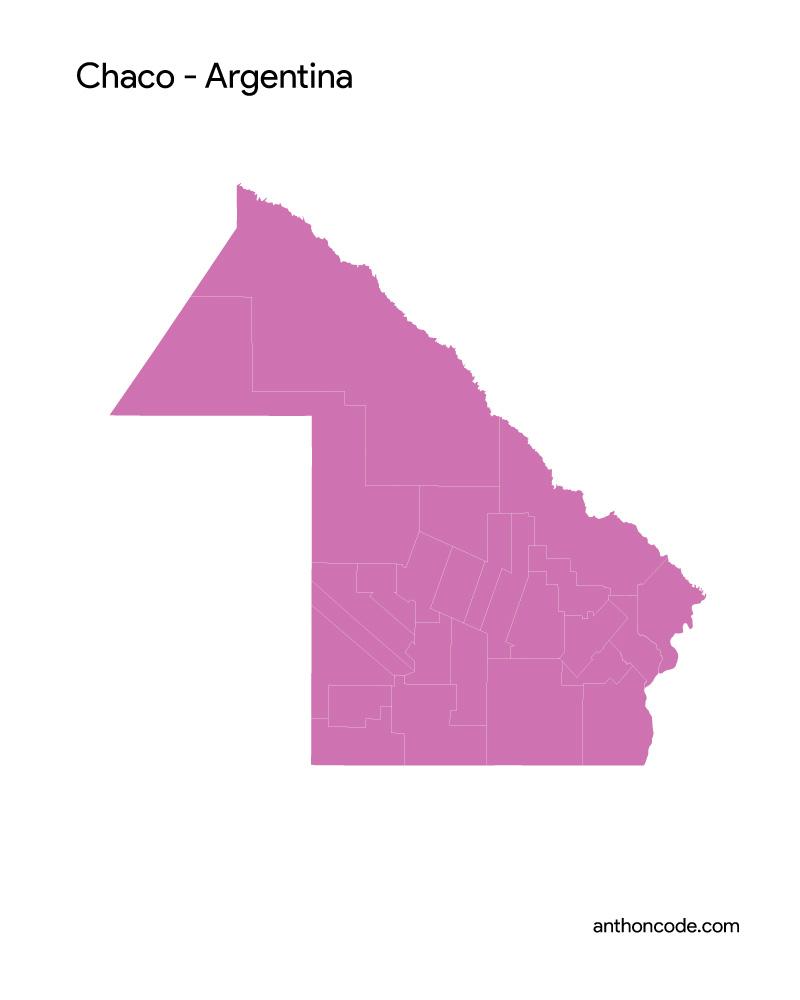 mapa de CHACO para colorear