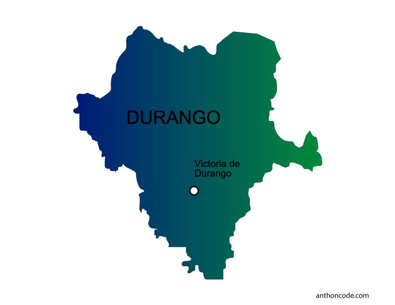 Mapa de Durango de México