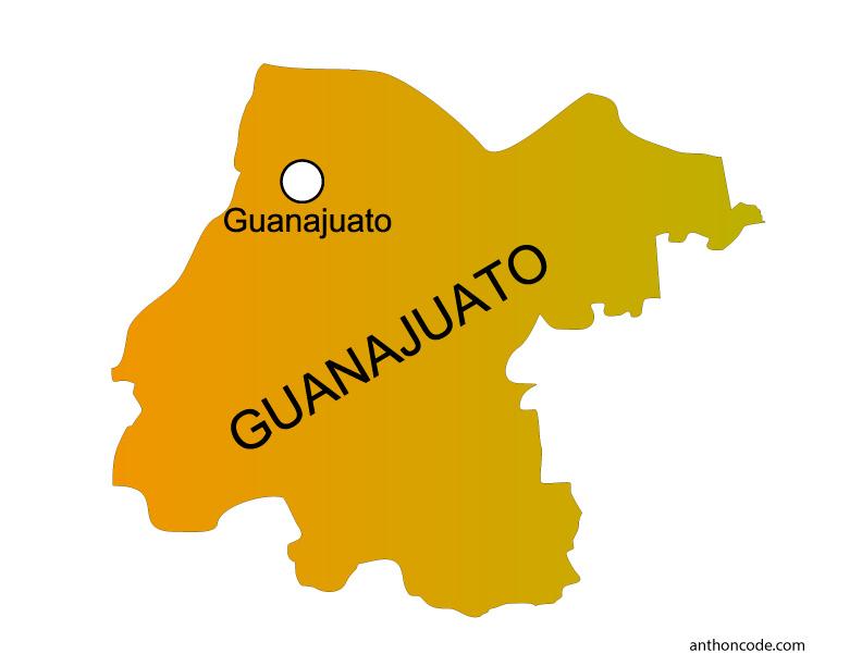 Mapa de Guanajuato de México