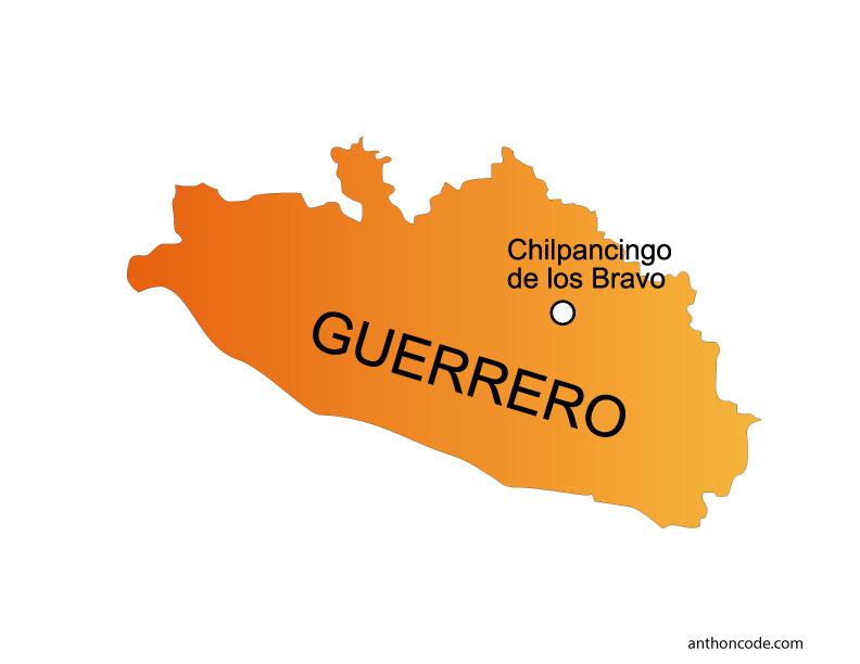 Mapa de Guerrero de México