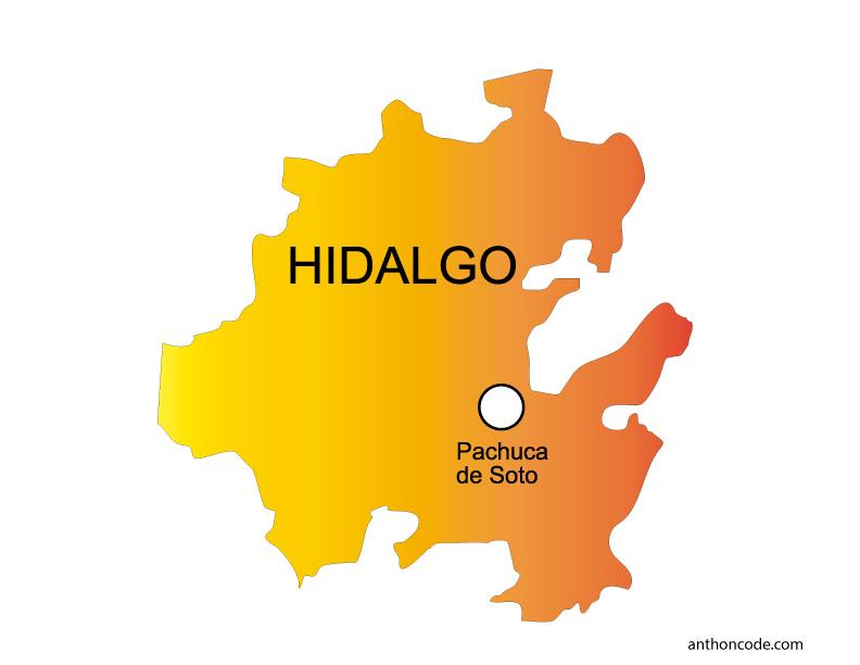 Mapa de Hidalgo de México