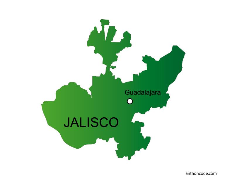 Mapa de Jalisco de México