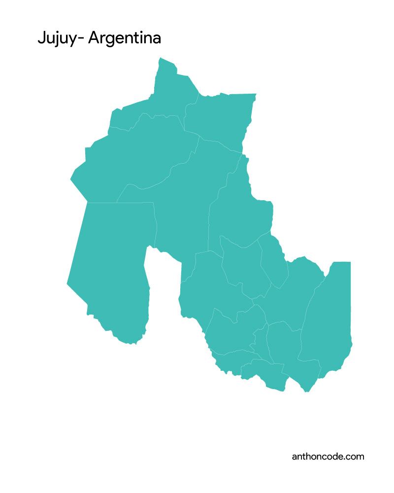 mapa de jujuy para colorear