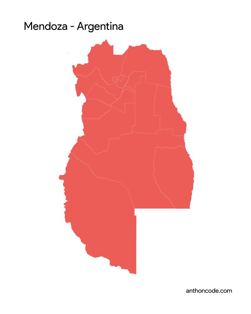 mapa de mendoza para colorear