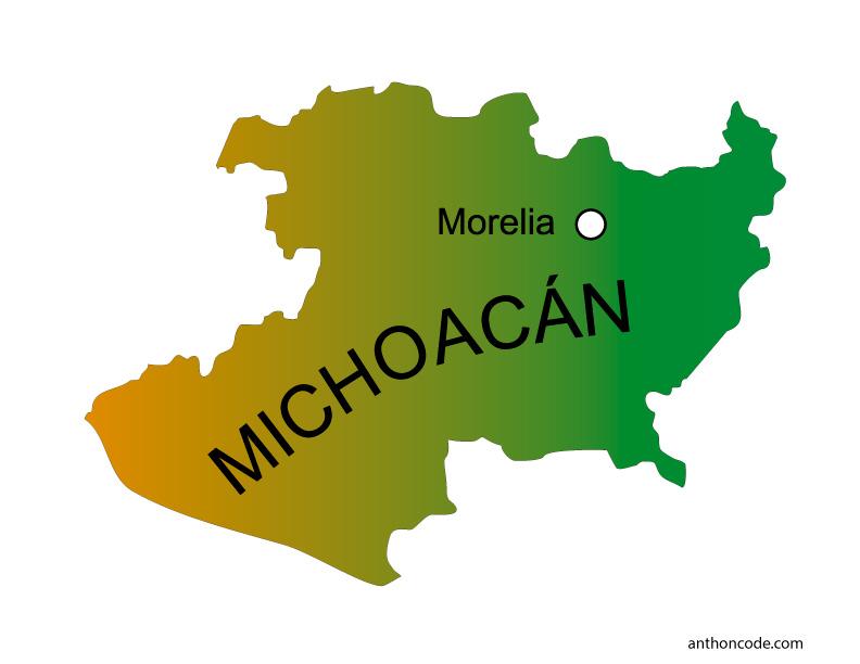 Michoacán para colorear