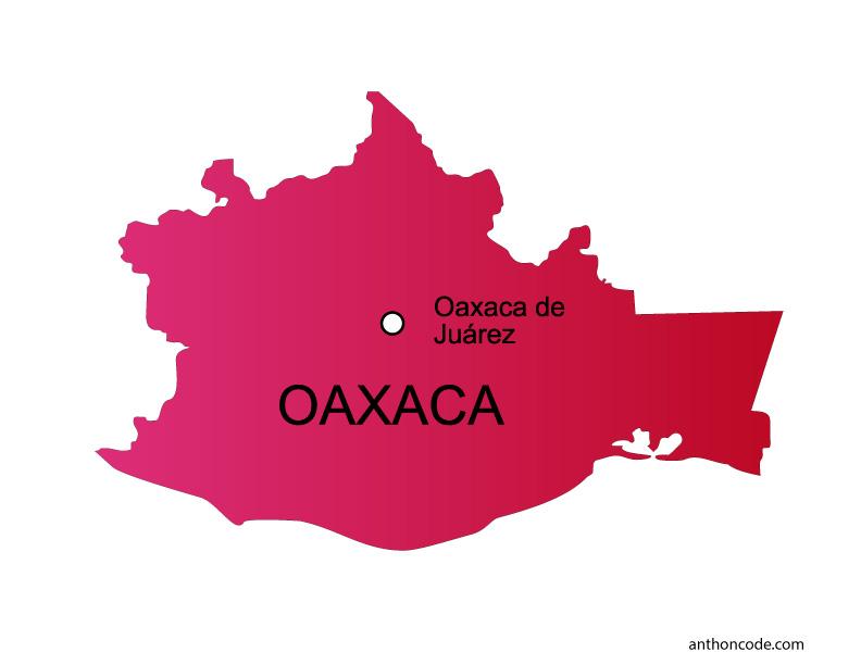 Mapa de Oaxaca de México