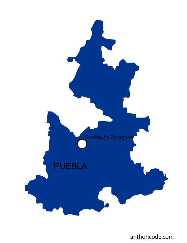 Mapa de Puebla de México