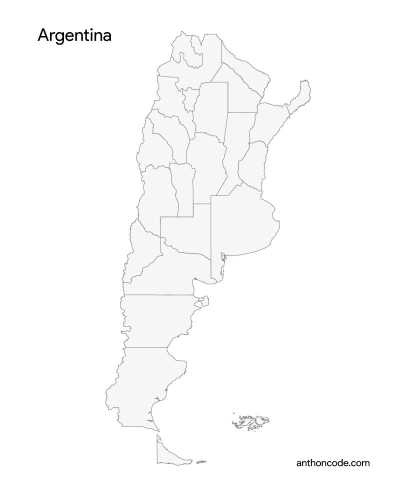 mapa de argentina para pintar