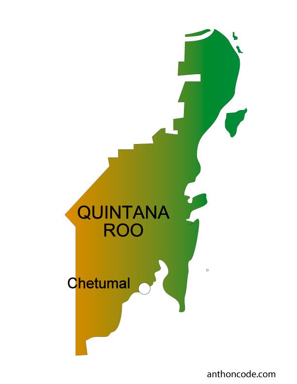 Mapa de Quintana Roo de México