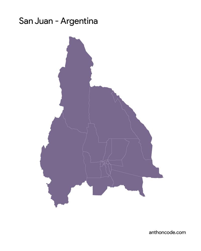 mapa de san juan para colorear