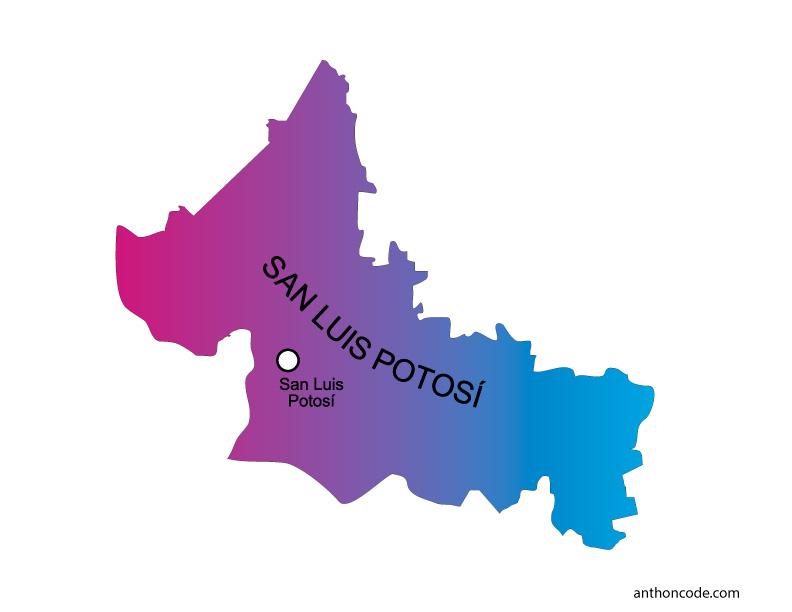 Mapa de San Luis Potosí de México