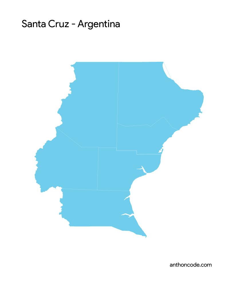 mapa de santa cruz argentina para colorear