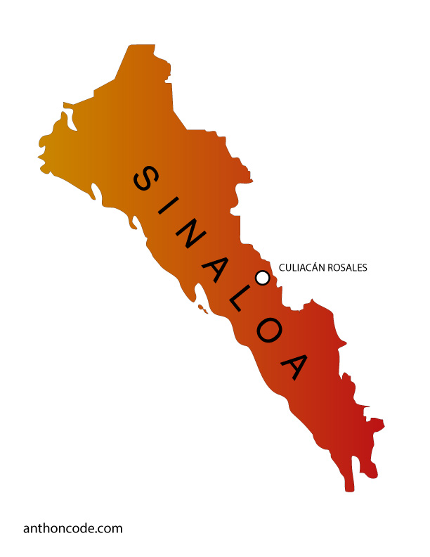 Mapa de Sinaloa de México