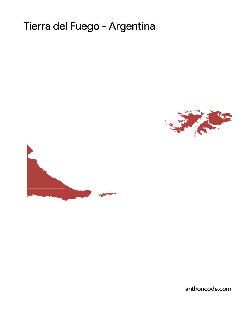 mapa de tierra del fuego para colorear