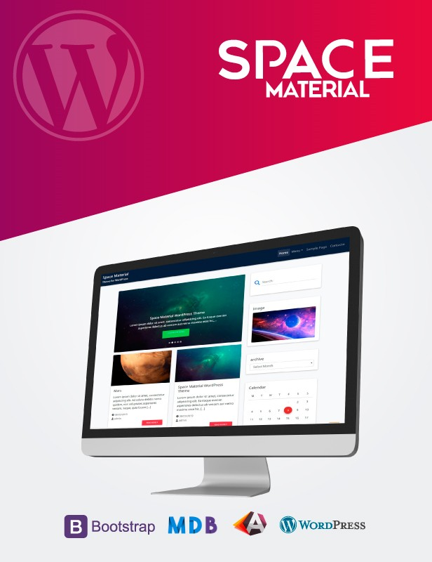Space Material PRO WordPress Theme