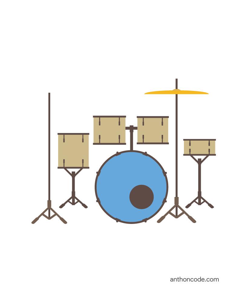 Instrumentos Musicales Para Colorear E Imprimir En Pdf Vector