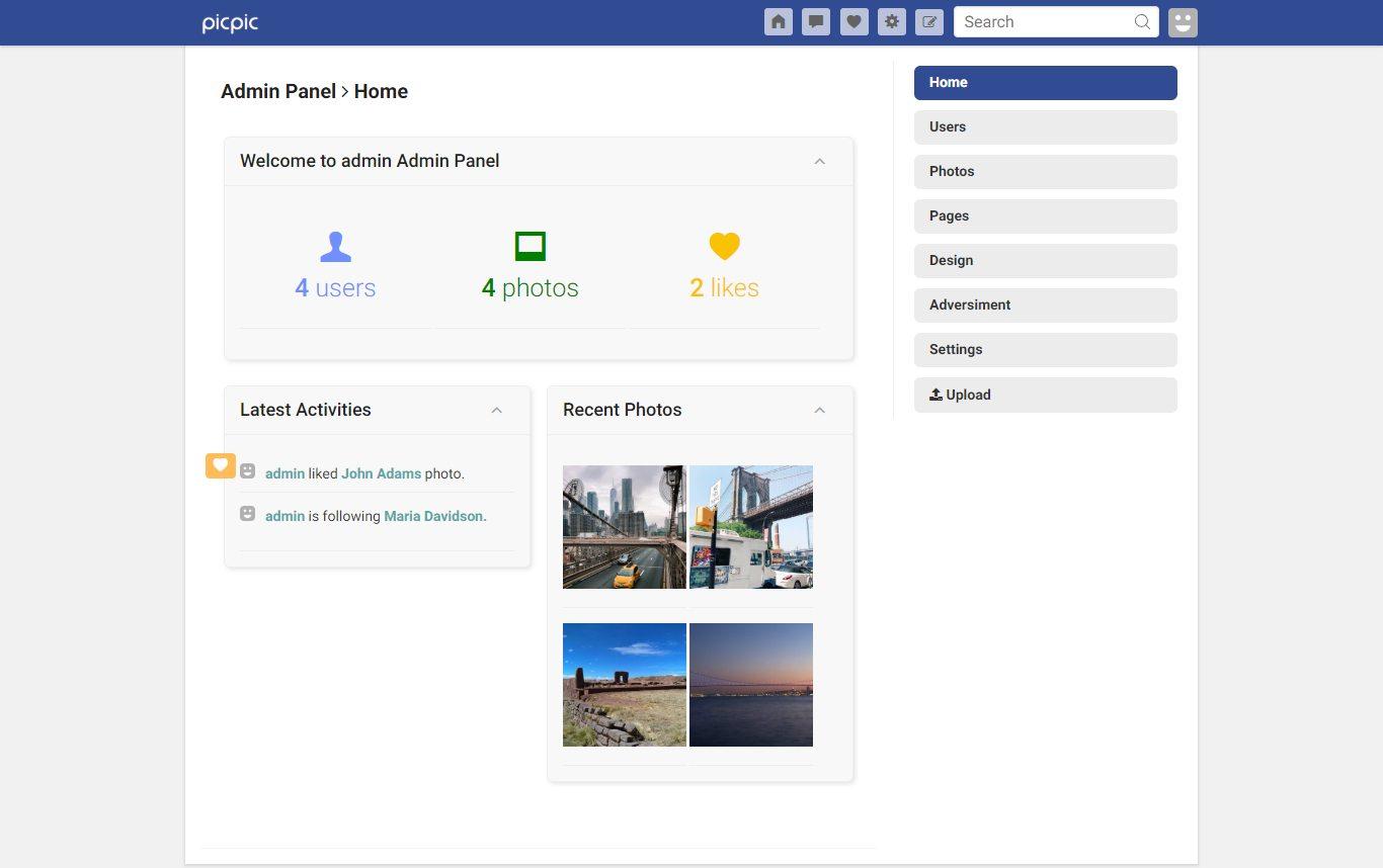 Red social de imágenes en PHP
