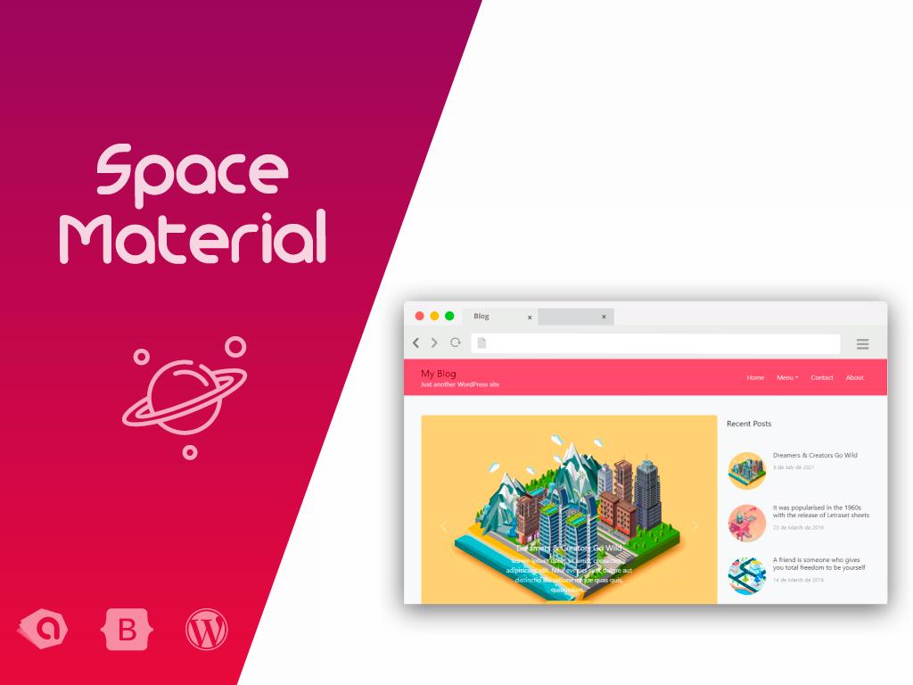 Space Material WordPress Theme - Personal Blog