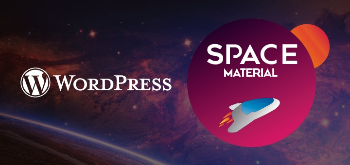 WordPress Theme in Material Design – Space Material