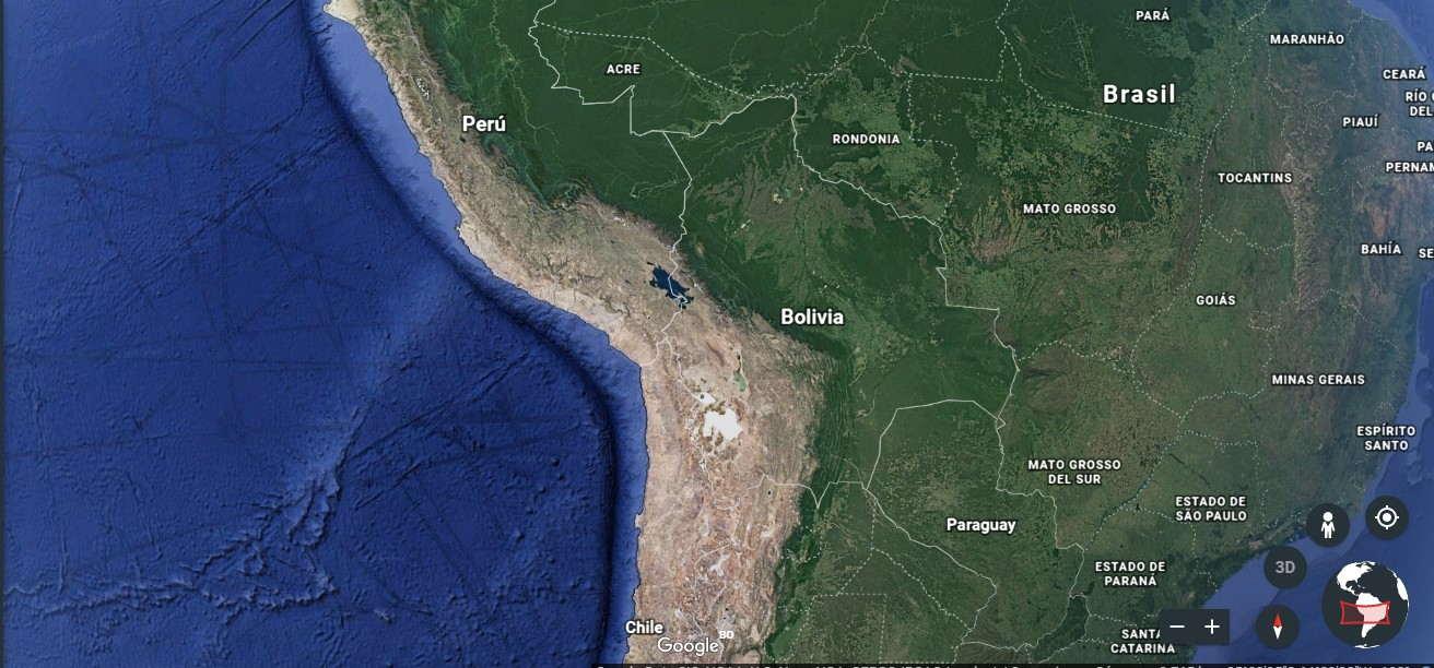 Geografía de Bolivia - Mapa físico de Bolivia en PDF