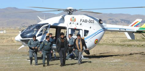 Evo Morales helicopters