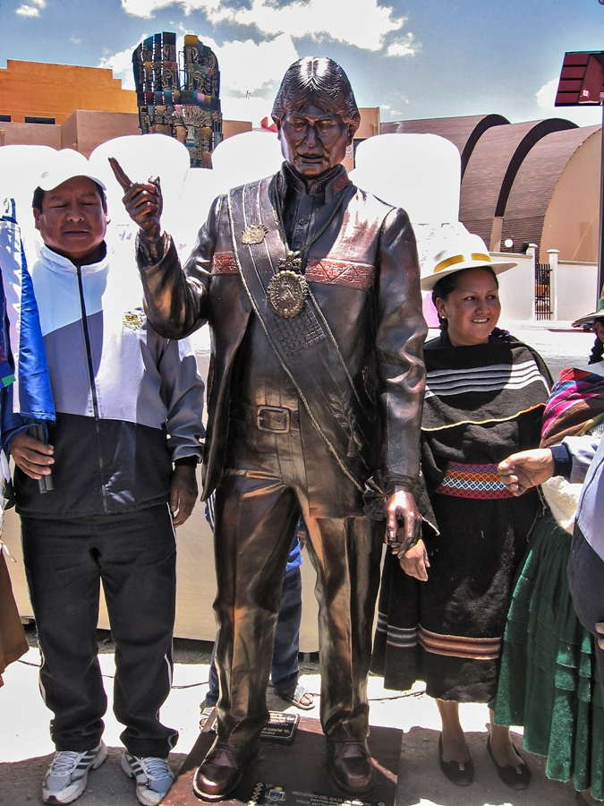 Statue of the dictator of Bolivia