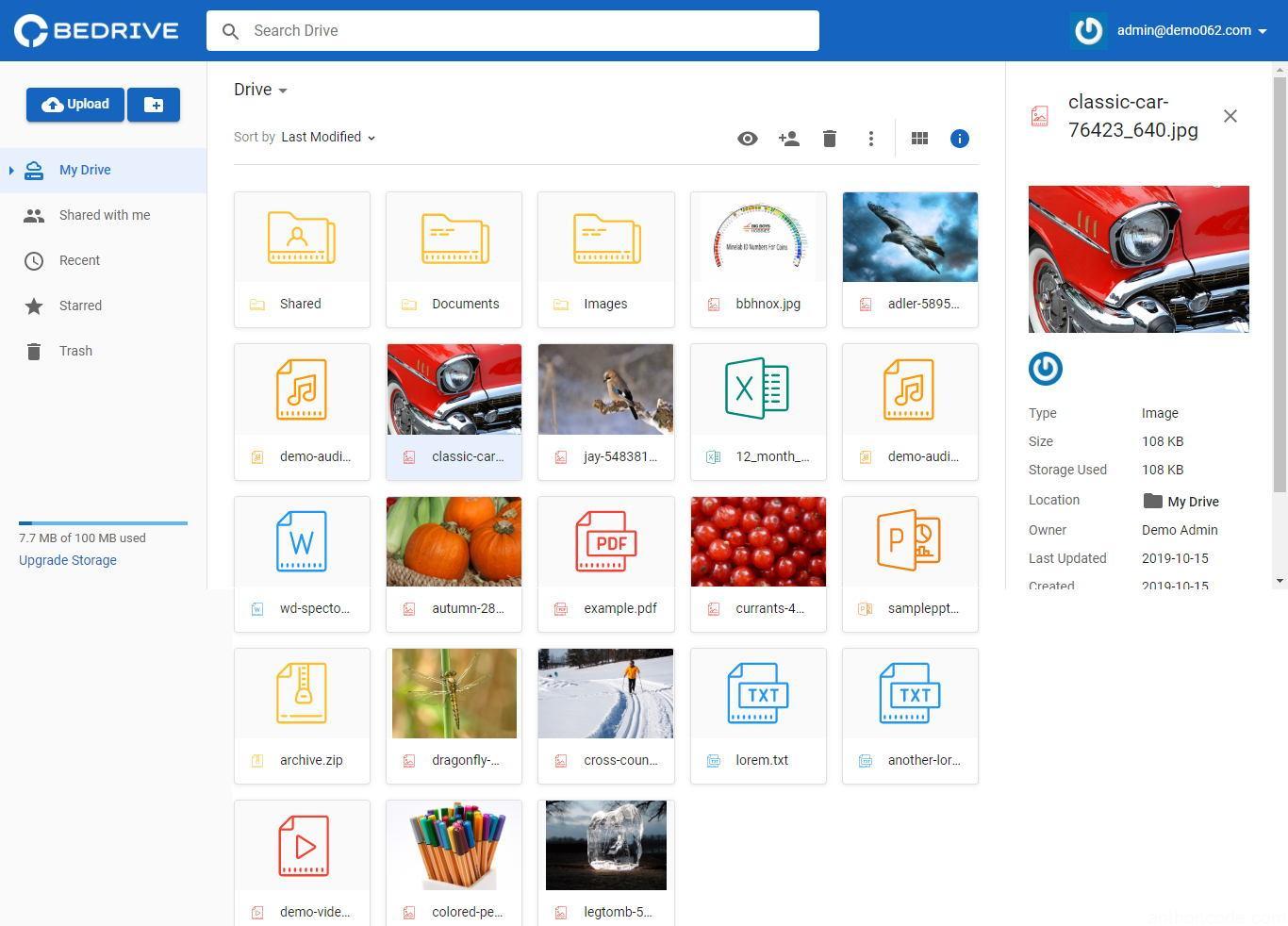 Bedrive plataforma de almacenamiento en la nube y uso compartido de archivos