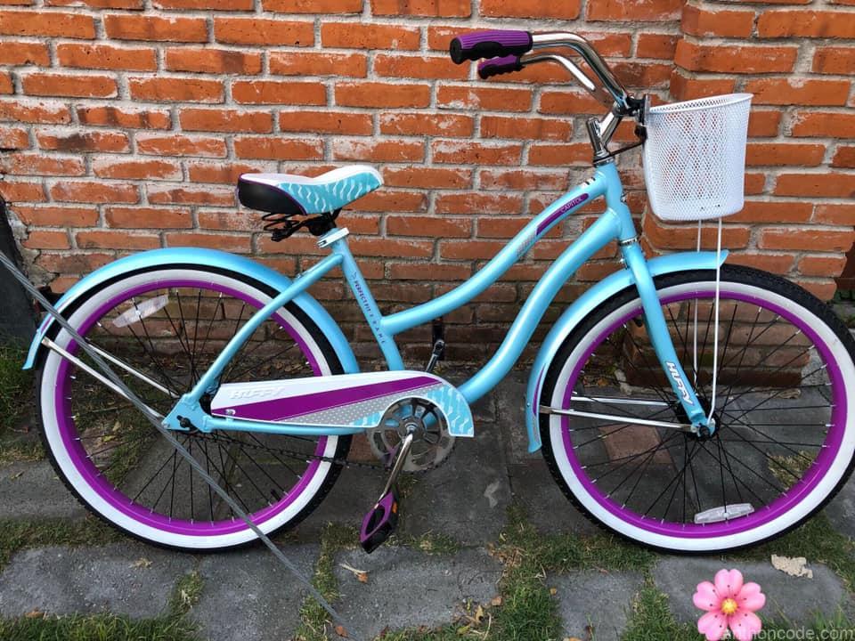 bicicleta-huffy-verde-morado