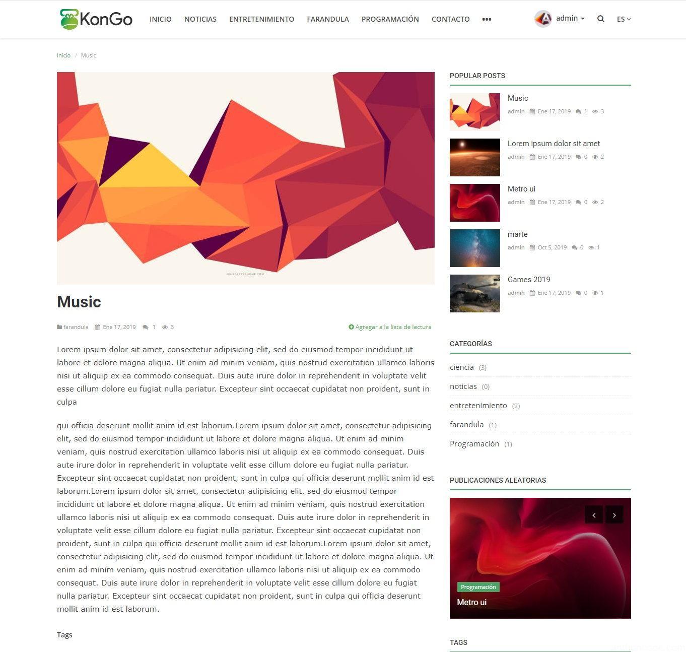 sistema de blog en php y mysql
