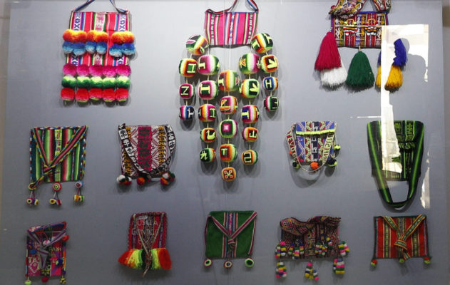 indigenous handmade bags that were given to the president of Bolivia