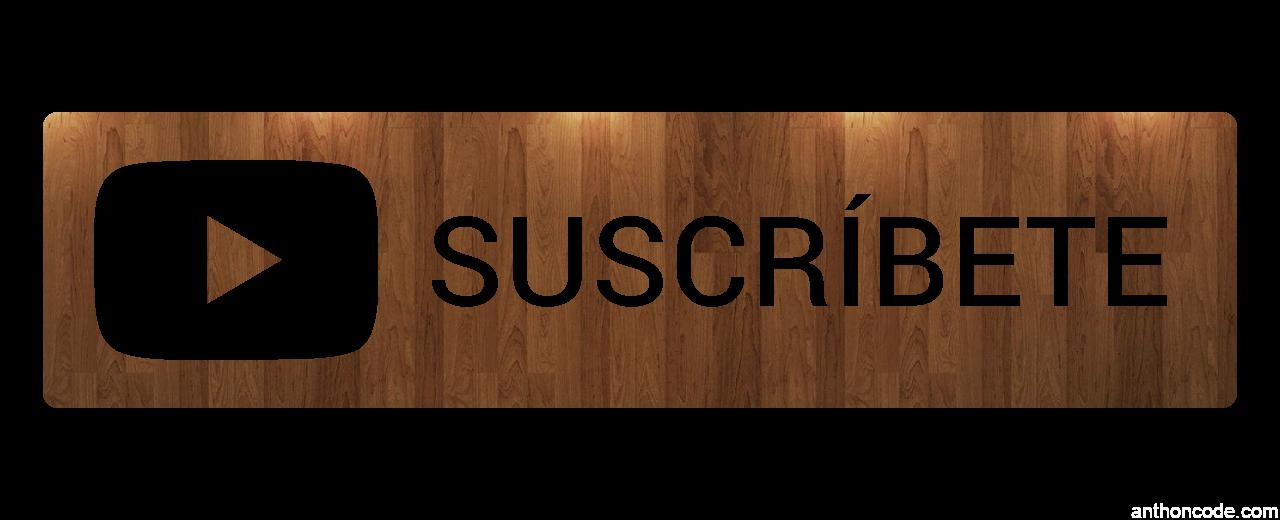 suscribete con fondo de madera