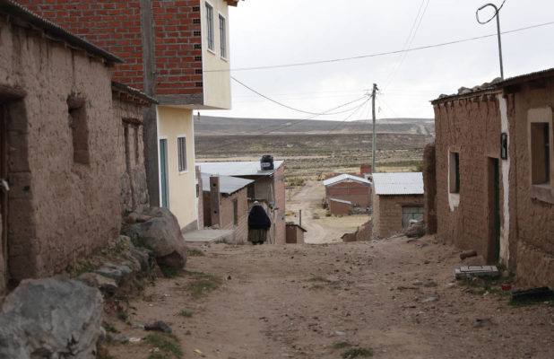 dirt roads in the small town of Orinoca Museo de Evo