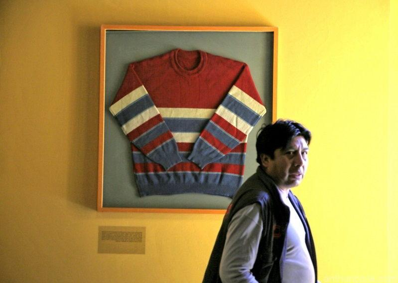 Evo Morales clothes in the museum